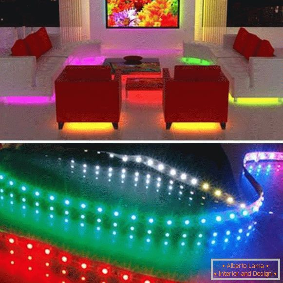 Application of LED strip in the interior