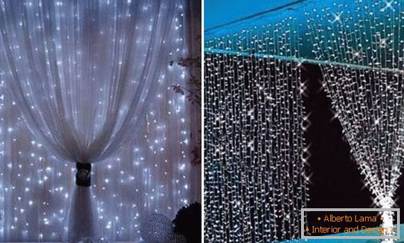 Curtains with LED strip