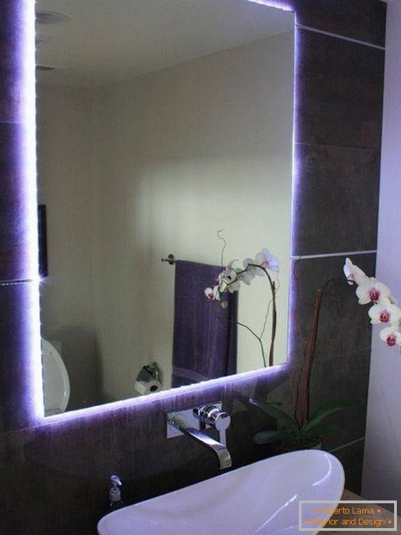 Mirror decoration with LED strip