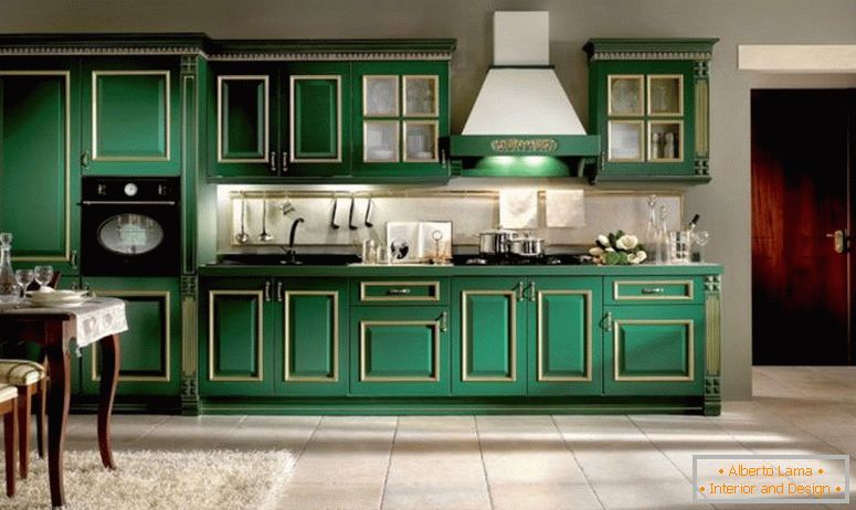 kitchen-green-color-vismap-kuchine