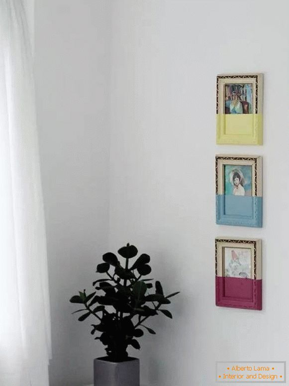 Paintings in frames - decor on the wall with your own hands