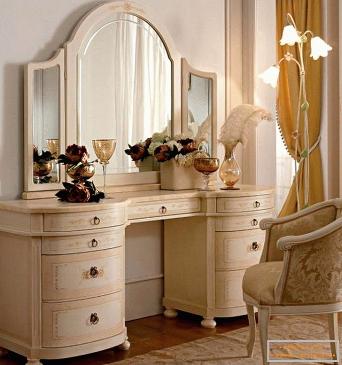 Dressing tables with a mirror for a bedroom photo