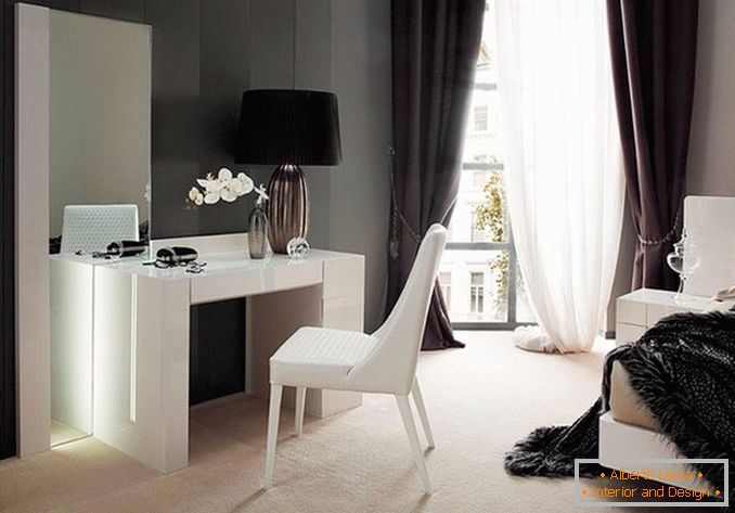 Dressing tables with a mirror for a bedroom photo 10