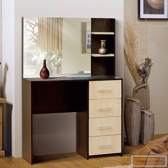 Dressing tables with a mirror for a bedroom photo 31
