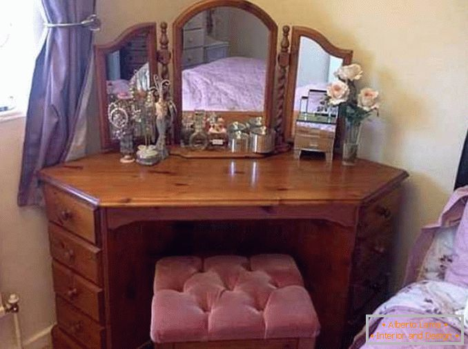 Corner dressing table for a bedroom photo 36