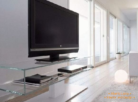 glass pedestals under the TV photo, photo 23