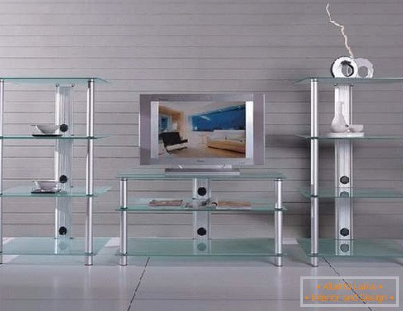 Glass cabinet for TV, photo 24