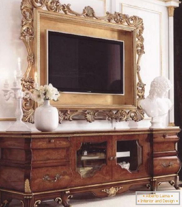 TV stand in a classic style, photo 29