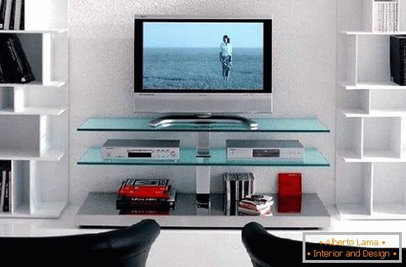 glass pedestals under the TV photo, photo 25