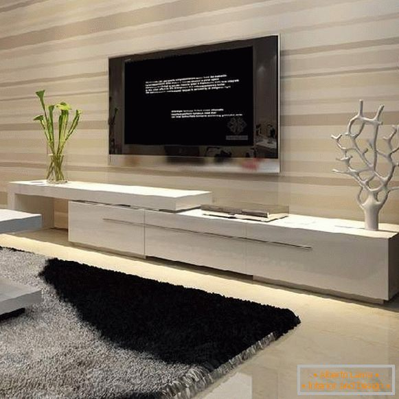 long pedestals under the TV photo, photo 8
