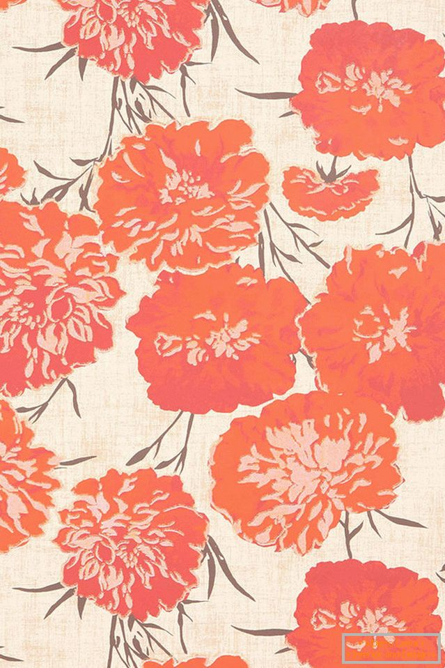 Wallpapers with floral motifs