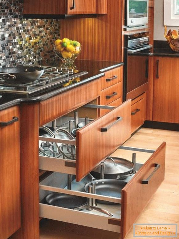 System of drawers for kitchen for dishes