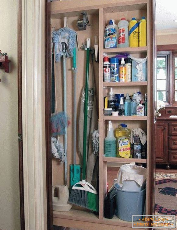Where to store detergents in the house in the kitchen