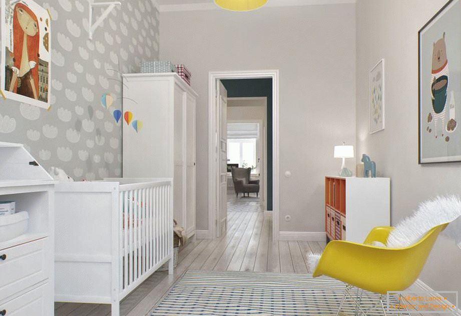 Light walls in the nursery