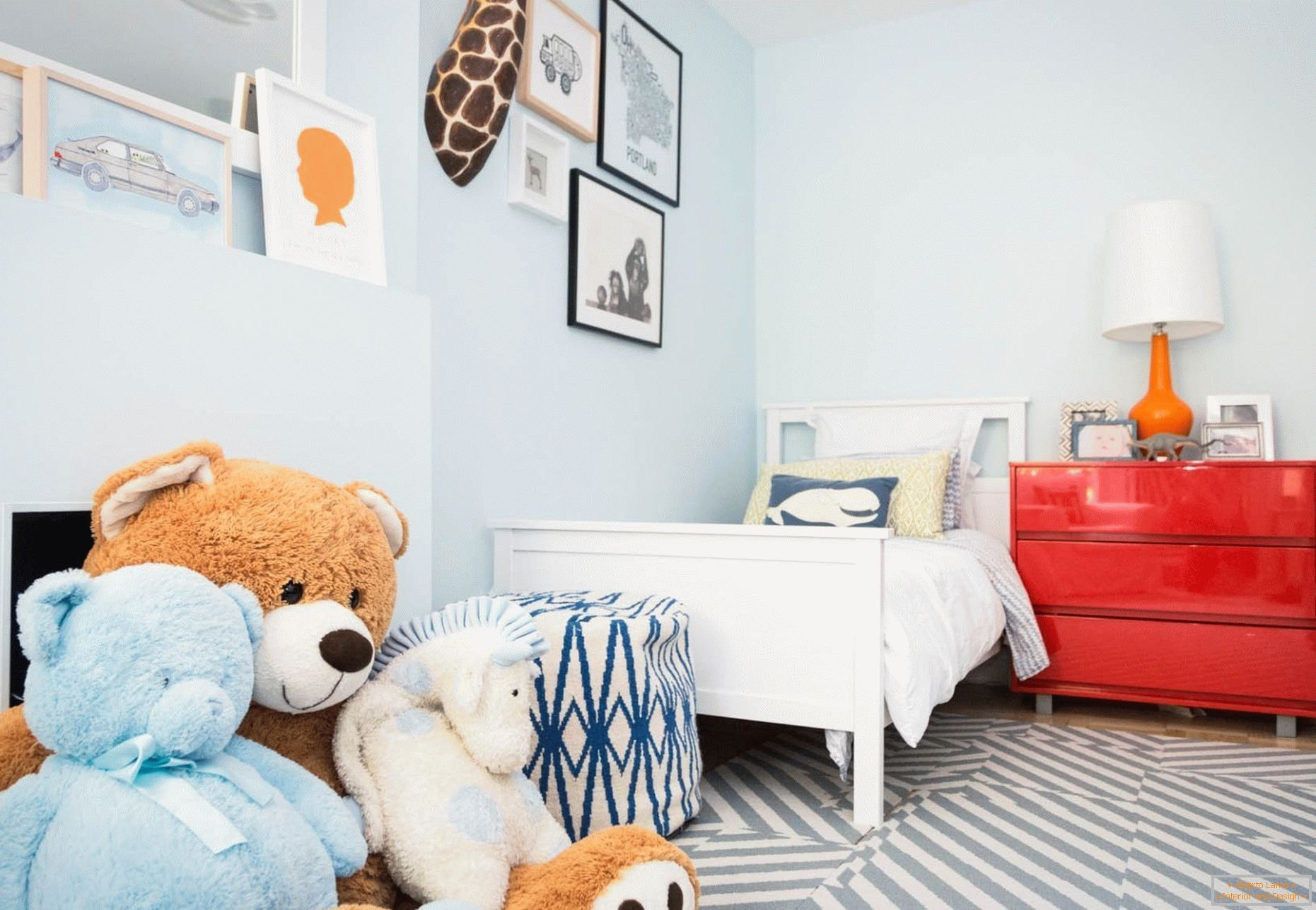 Norwegian style in the décor of a bedroom for a child