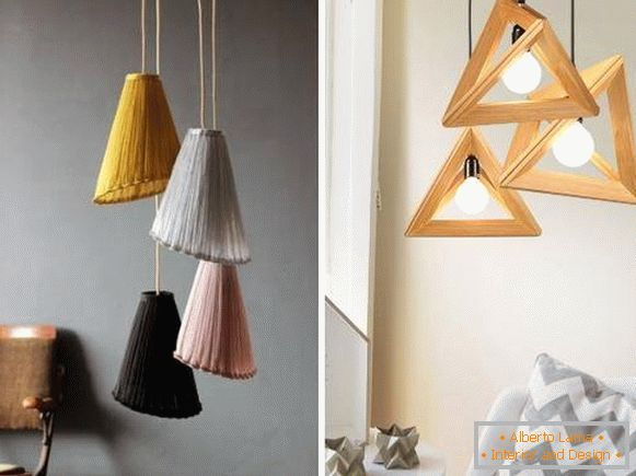 Stylish spring decor with lamps