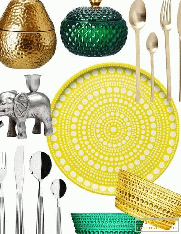 Spring decor for home - tableware and accessories