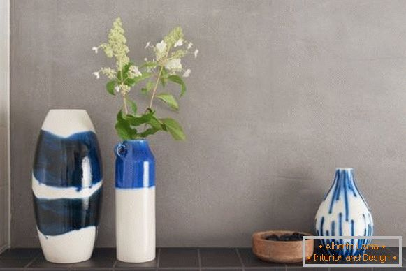 Stylish vases for interior decoration by spring