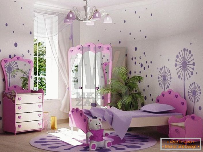 Stylish room for girls