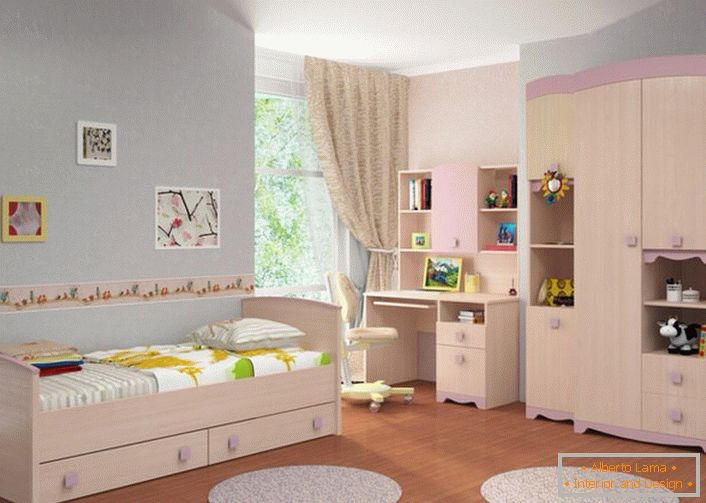 Modular furniture for children should be roomy, so that the child's room does not seem cluttered.