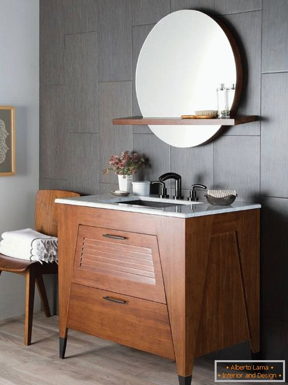Design a mirror over a sink in the bathroom