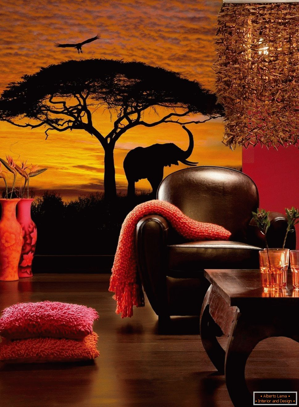 African landscape on the wall