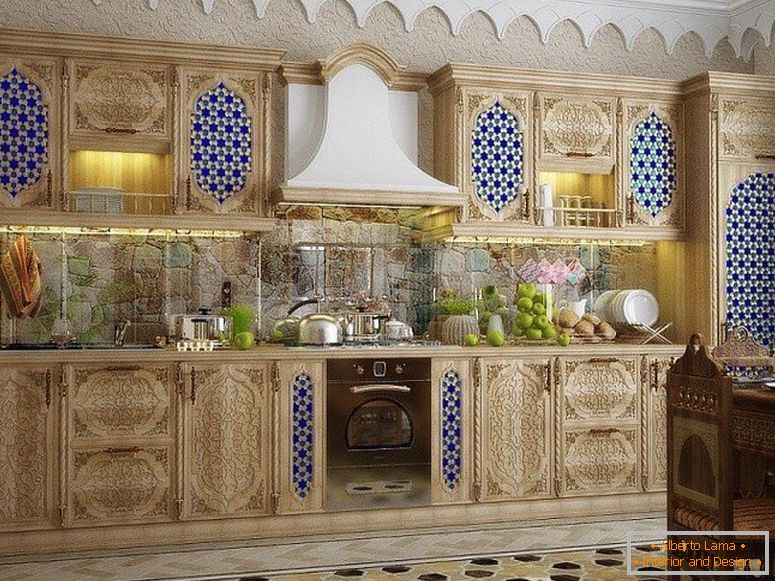 Beautiful furniture in the kitchen