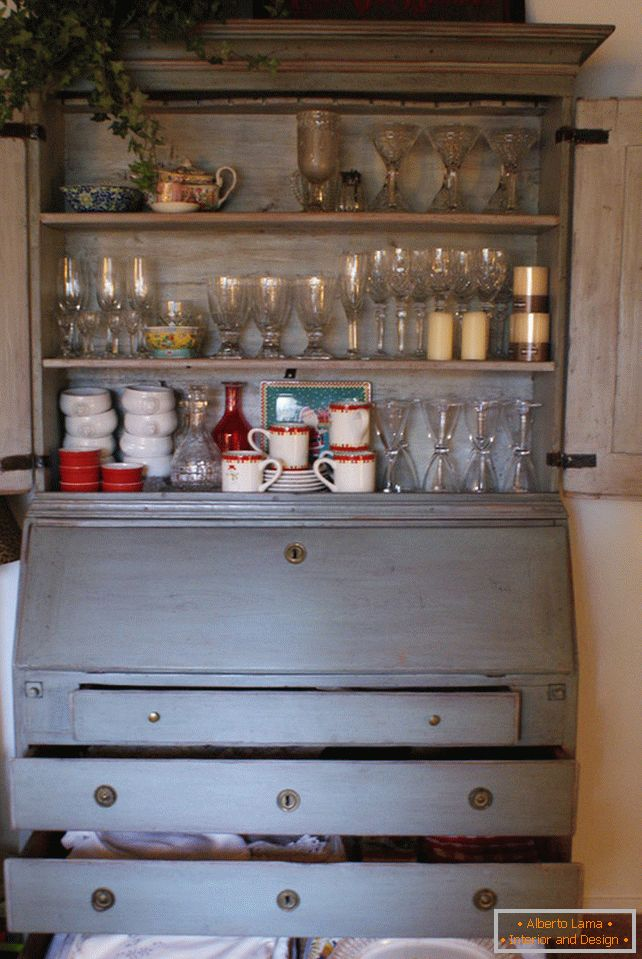 Sideboard for dishes with drawers