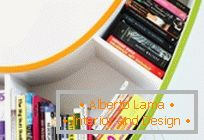 Bright and creative bookshelf for bookworm BookWorm