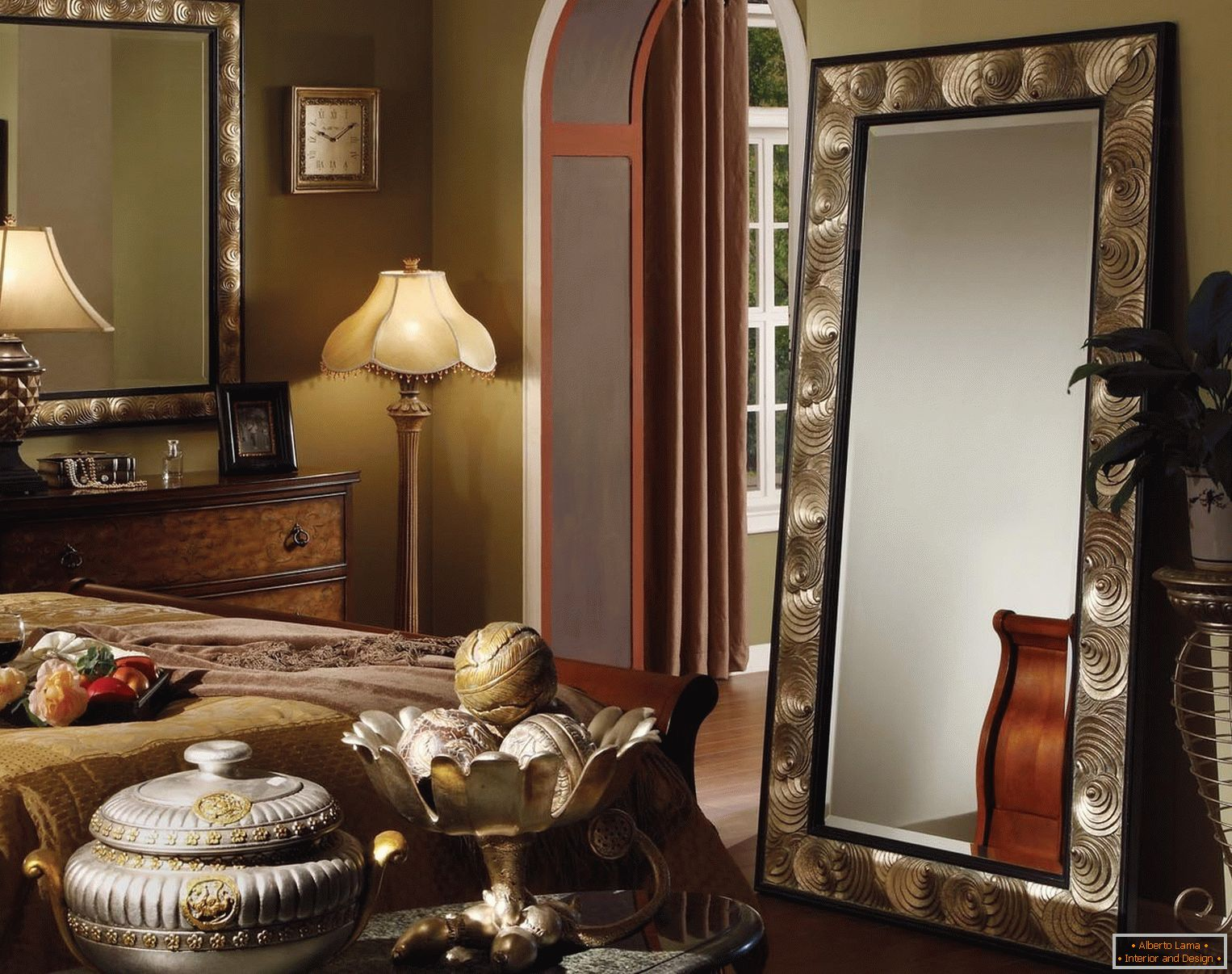 Chic interior with mirrors