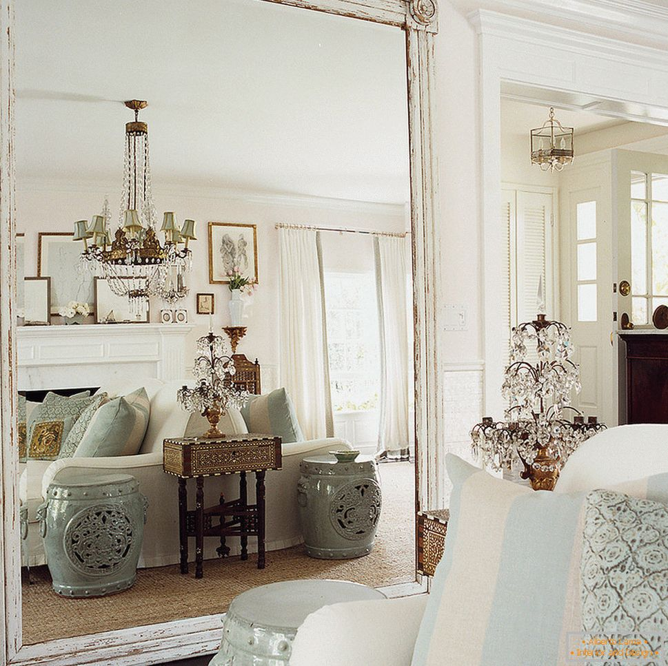 Large mirror in the living room